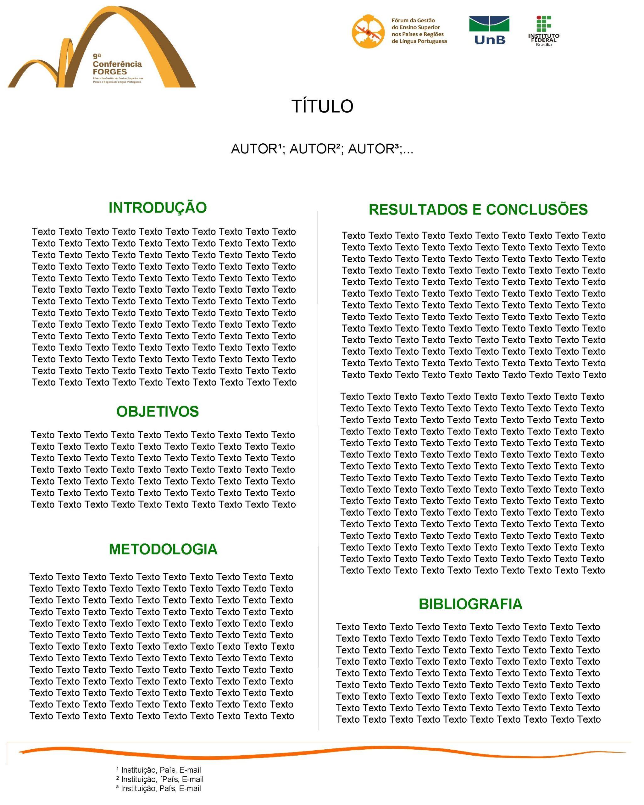 TTULO AUTOR AUTOR AUTOR INTRODUO Texto Texto Texto