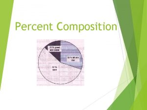 Percent Composition What is Percent Composition The percent