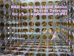 RD works on Liquid Xenon Photon Detector for