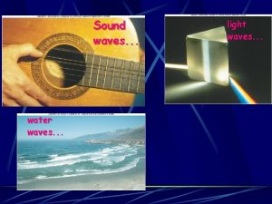 Sound waves water waves light waves 1 S13