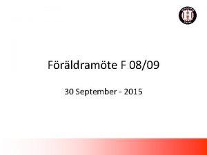 Frldramte F 0809 30 September 2015 Agenda 1