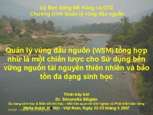U Ban Sng M Kng v GTZ Chng