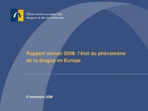Rapport annuel 2008 ltat du phnomne de la