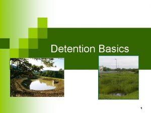 Detention Basics 1 Detention Basics 2 Objectives Students