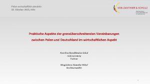 Polen wirtschaftlich attraktiv 22 Oktober 2015 Kln Praktische