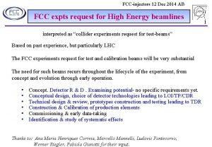 FCCinjectors 12 Dec 2014 AB FCC expts request