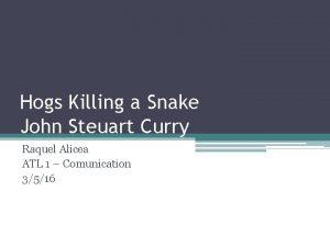 Hogs Killing a Snake John Steuart Curry Raquel