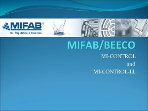 MIFABBEECO MICONTROL and MICONTROLLL Thermal Expansion Devices Thermal