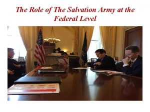The Role of The Salvation Army at the