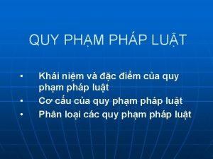QUY PHM PHP LUT Khi nim v c
