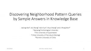 Discovering Neighborhood Pattern Queries by Sample Answers in