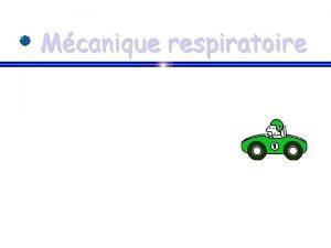 Mcanique respiratoire Mcanique respiratoire O 2 Aliments CO