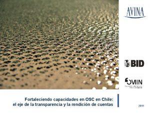 Fortaleciendo capacidades en OSC en Chile el eje