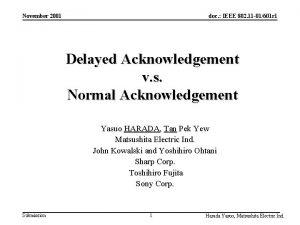 November 2001 doc IEEE 802 11 01601 r