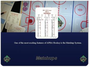 One of the most exciting features of APBA