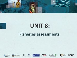 UNIT 8 Fisheries assessments Fisheries data Why do