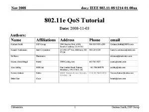 Nov 2008 doc IEEE 802 11 081214 01