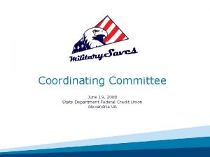 Coordinating Committee June 19 2008 State Department Federal