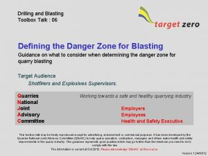 Drilling and Blasting Toolbox Talk 06 Defining the