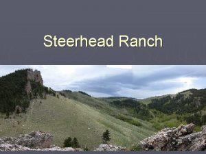Steerhead Ranch Purpose Mapping lower Paleozoic rocks Mapping