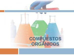 COMPUESTOS ORGANICOS COMPUESTOS ORGANICOS Sus molculas contienen fundamentalmente