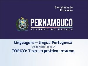 Linguagens Lngua Portuguesa Ensino Mdio Srie 1 TPICO