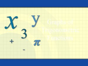 Graphs of Trigonometric Functions Symmetry with respect to