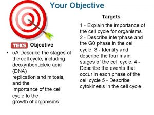 Your Objective Targets Objective 5 A Describe the