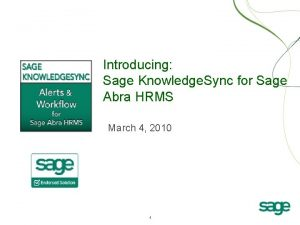 Introducing Sage Knowledge Sync for Sage Abra HRMS