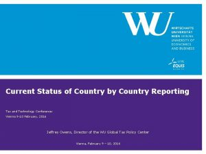 Current Status of Country by Country Reporting Tax