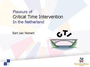 Flavours of Critical Time Intervention In the Netherland