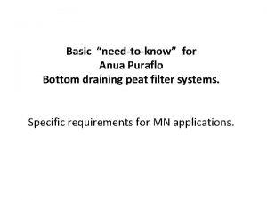 Basic needtoknow for Anua Puraflo Bottom draining peat