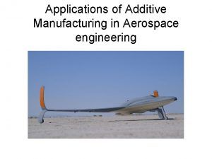 Applications of Additive Manufacturing in Aerospace engineering Definitions