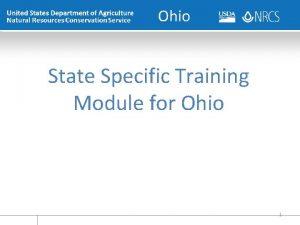 Ohio State Specific Training Module for Ohio 1