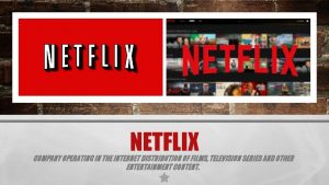 NETFLIX COMPANY OPERATING IN THE INTERNET DISTRIBUTION OF