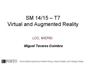 SM 1415 T 7 Virtual and Augmented Reality