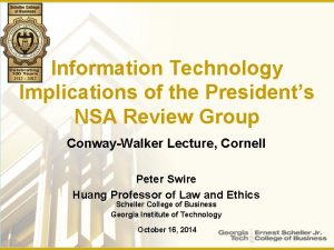 Information Technology Implications of the Presidents NSA Review
