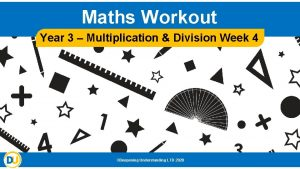 Maths Workout Year 3 Multiplication Division Week 4