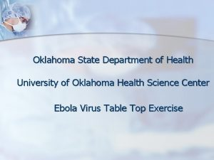 Oklahoma State Department of Health University of Oklahoma