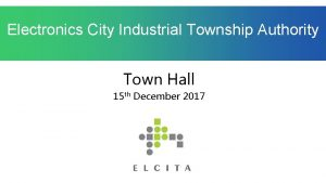 Electronics City Industrial Township Authority Town Hall 15