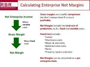 Calculating Enterprise Net Margins Net Enterprise Income Minus