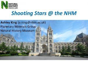Shooting Stars the NHM Ashley King a kingnhm