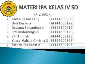 MATERI IPA KELAS IV SD 1 2 3