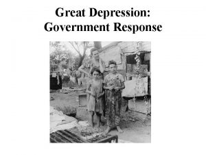 Great Depression Government Response Political Situation During The