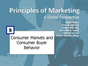 A Global Perspective 5 Consumer Markets and Consumer