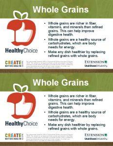 Whole Grains Whole grains are richer in fiber