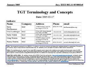January 2005 doc IEEE 802 11 050003 r