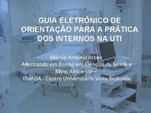 GUIA ELETRNICO DE ORIENTAO PARA A PRTICA DOS