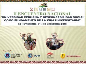 ORGANIZA UNIVERSIDAD NACIONAL DE PIURA PUCP II ENCUENTRO