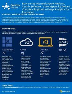 Built on the Microsoft Azure Platform Centrix Softwares